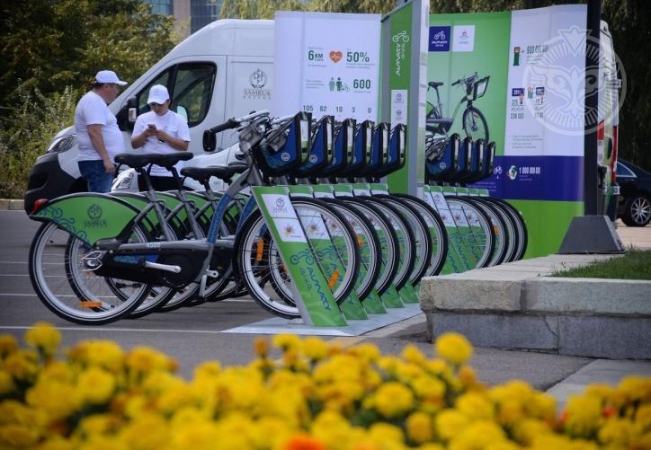 Алматы, сеть велостанций