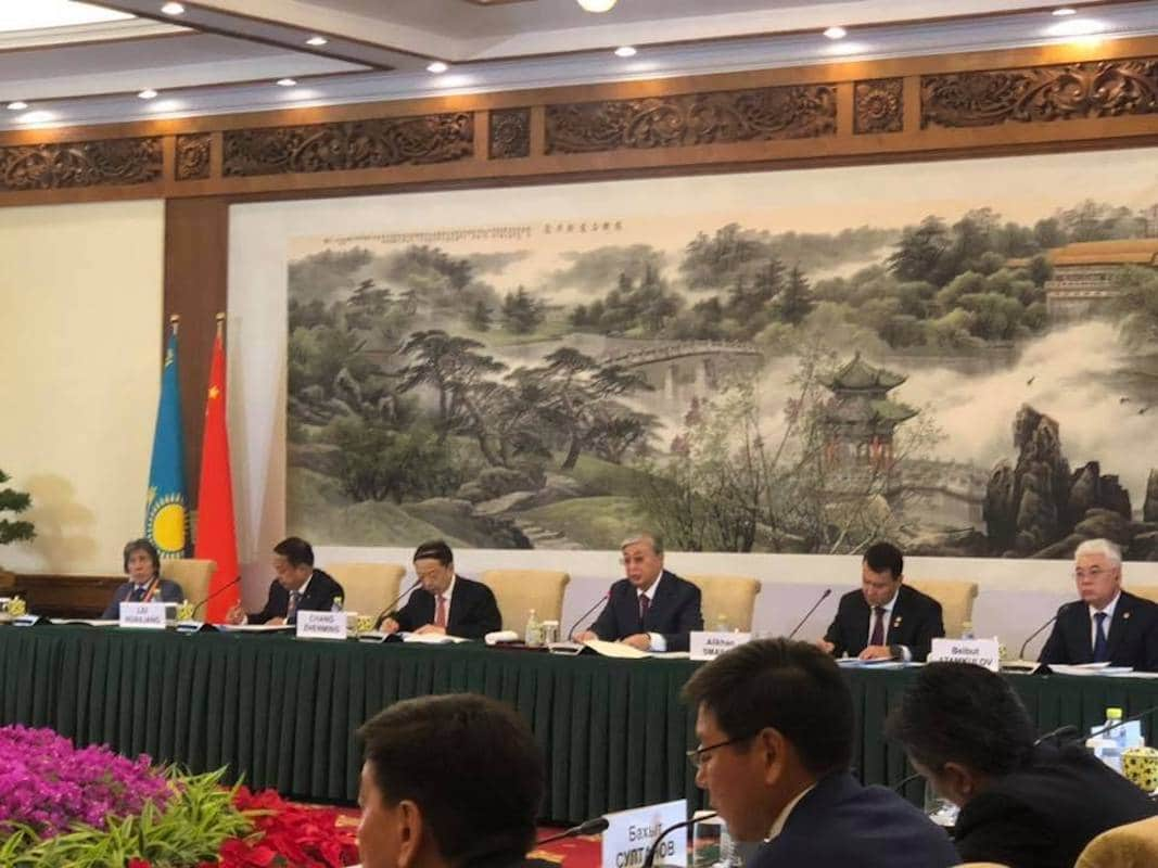 Касым-Жомарт Токаев в Китае