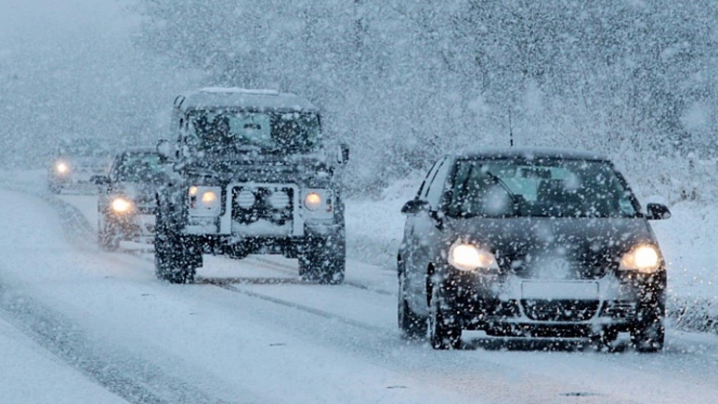 Машина, зима, шины