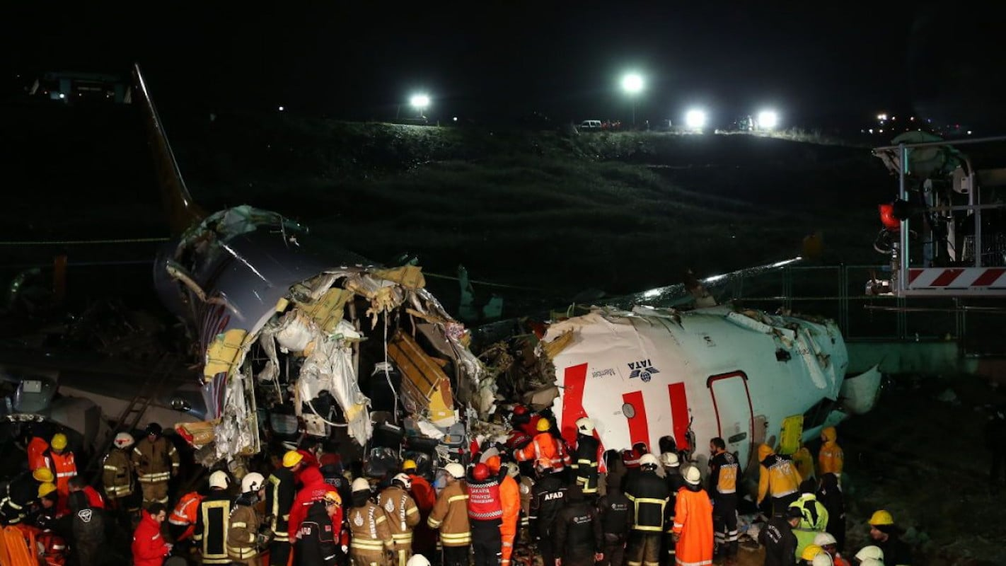 Крушение самолета в Стамбуле