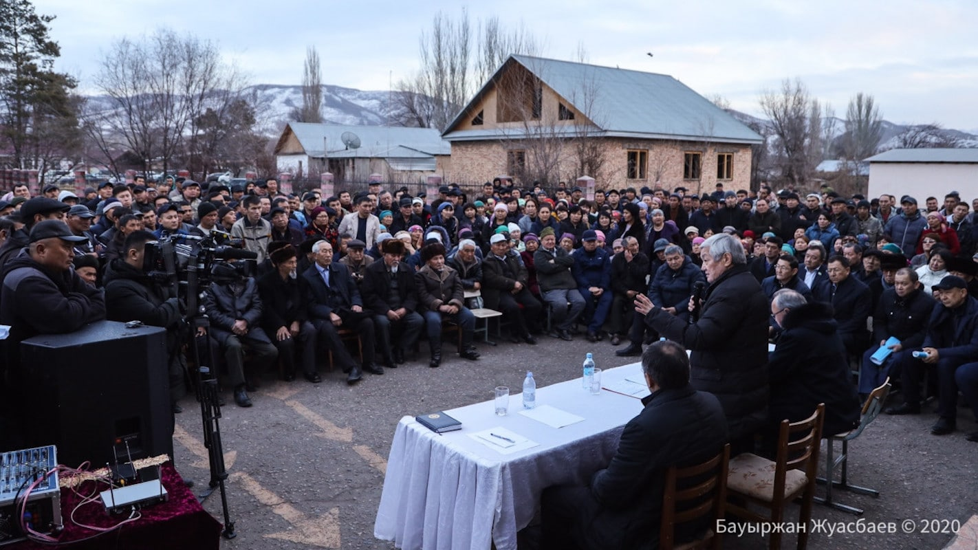 Сапарбаев встретился с жителями Кордайского района