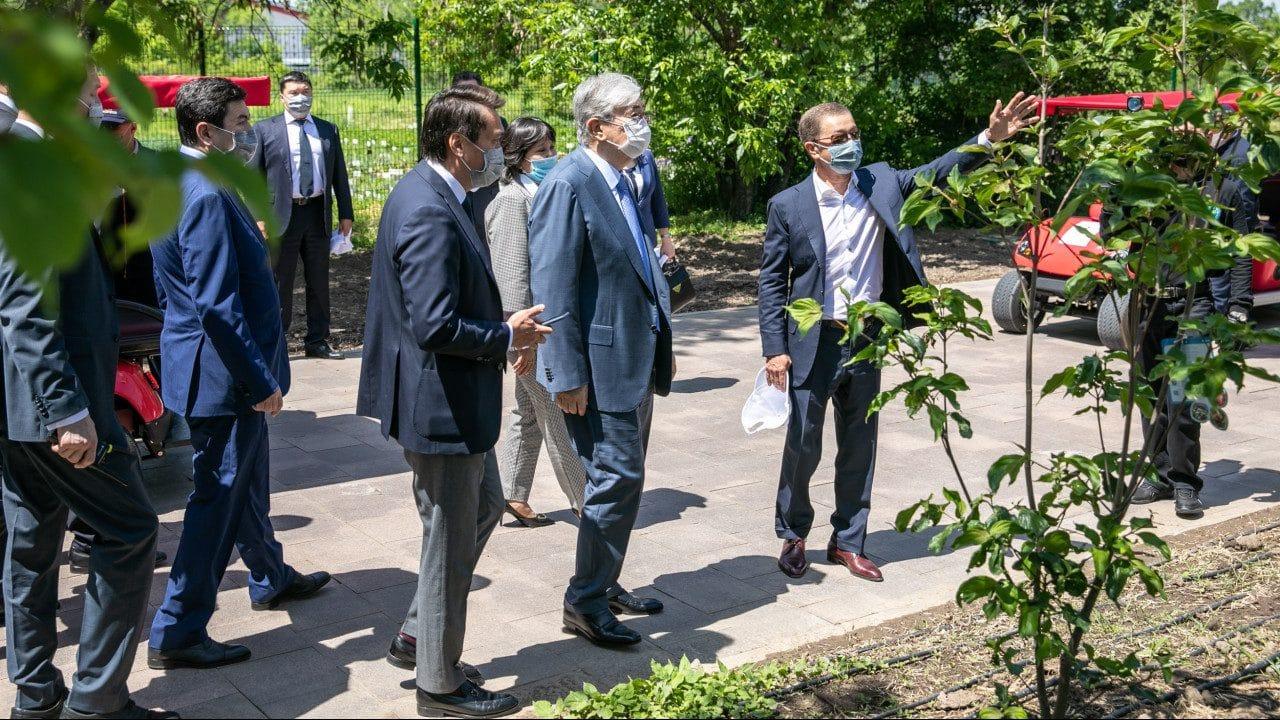 Президент в Ботаническом саду